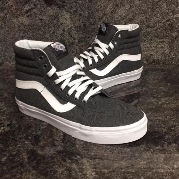 c35447ea13 Vans Sk8-Hi Reissue Varsity Charcoal   White Shoes